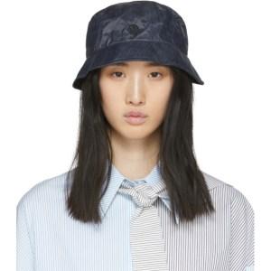 Maison Michel Navy Denim Effect Malo Bucket Hat