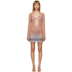 Emilio Pucci Multicolor Metallic Crochet Short Dress