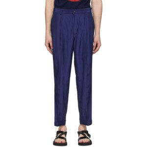 Blue Blue Japan Indigo Wavy Rayon Trousers