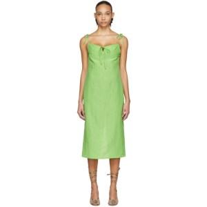 Maryam Nassir Zadeh Green Serpentine Dress
