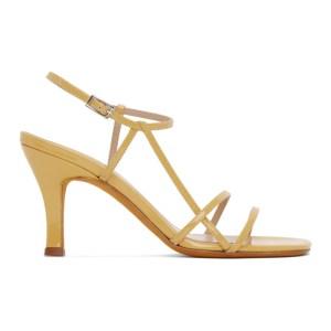 Maryam Nassir Zadeh Yellow Patent Irene Sandals