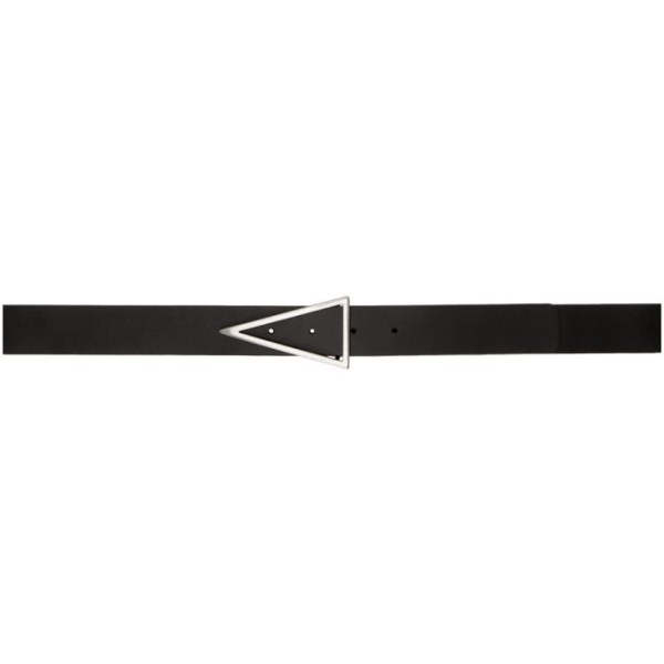 Bottega Veneta Black Triangle Belt