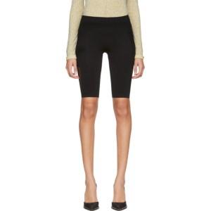 Unravel Black Knit Seamless Cycling Shorts