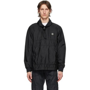 Stone Island Black Metal Smock Jacket
