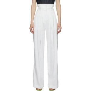 Eckhaus Latta White Double Trousers
