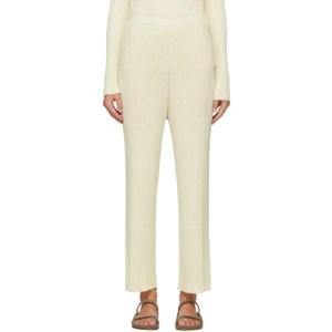 Lauren Manoogian Off-White Column Lounge Pants