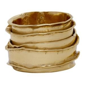 Emanuele Bicocchi Gold Textured Ring