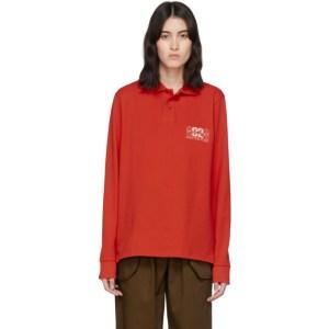 Martine Rose Red Jacquard Polo