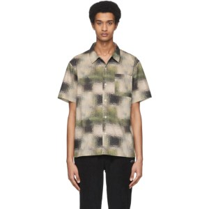 Saturdays NYC Green and Off-White Alpons Glass Shirt