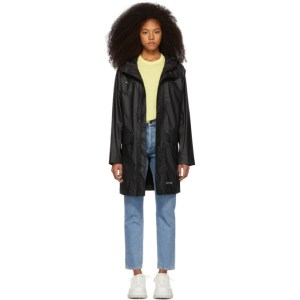 Stutterheim Black Ekeby Lightweight Long Raincoat