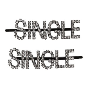 Ashley Williams Black and Transparent Single Hair Clip Set