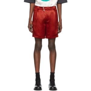 Kiko Kostadinov Red Ansel Racing Shorts