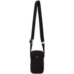 Diesel Black Urbhanity Fono Messenger Bag