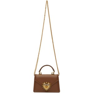 Dolce and Gabbana Brown Small Devotion Bag