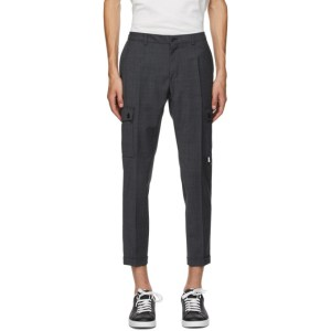 Dolce and Gabbana Black Wool Cargo Pants