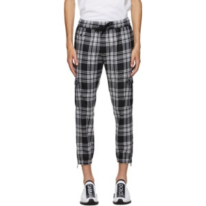 Dolce and Gabbana Black and White Tartan Cargo Pants