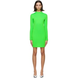 Kwaidan Editions Green Jersey Mousse Short Dress