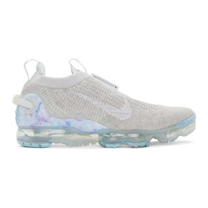 Nike Grey and White Air VaporMax 2020 Flyknit Sneakers
