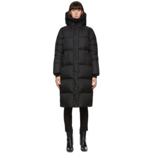 Mackage Black Down Maxi Foil Shield Eliane Coat