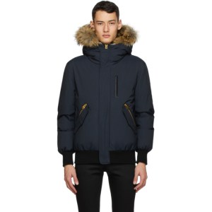 Mackage Navy Down and Fur Dixon-XR Jacket