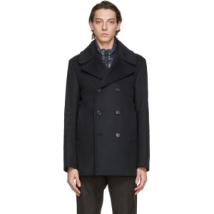 Mackage Navy Wool Noah Coat