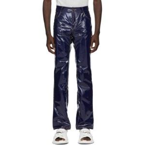Ottolinger Navy Faux-Leather Trousers