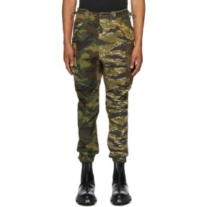 R13 Multicolor Camouflage Military Cargo Pants
