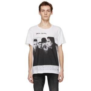 R13 White Anton Corbijn Edition U2 Death Valley T-Shirt