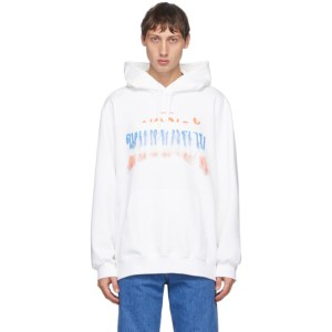 Doublet White Thank You Hoodie