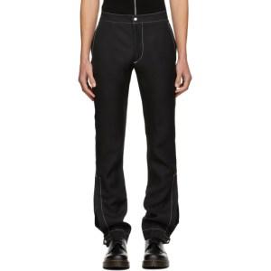 Daniel W. Fletcher SSENSE Exclusive Black Split Hem Trousers
