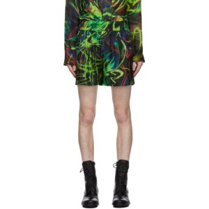 Palomo Spain Multicolor Silk Print Shorts