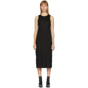 rag and bone Black The Knit Rib Zip Dress