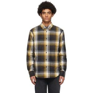 rag and bone Black and Yellow Fit 2 Tomlin Shirt