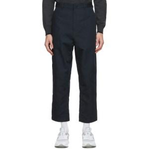 Comme des Garcons Homme Navy Canvas Oxford Trousers