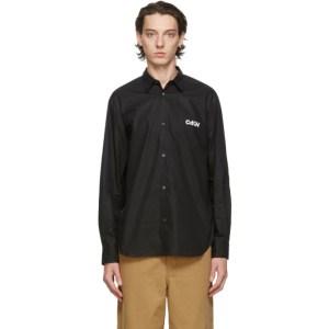 Comme des Garcons Homme Black Cotton Broadcloth Shirt