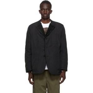 Comme des Garcons Homme Reversible Black Nylon Tussah Blazer