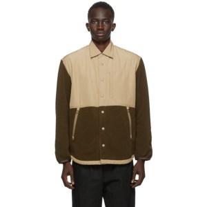 Comme des Garcons Homme Khaki Rayon Fleece Jacket