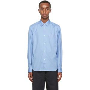 Comme des Garcons Homme Blue Broadcloth Shirt