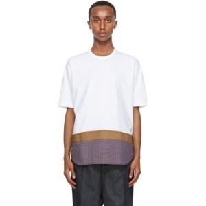 Comme des Garcons Homme White Poplin Shirttail Hem T-Shirt