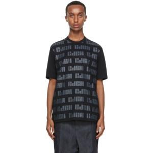 Comme des Garcons Homme Black Logo Pattern T-Shirt