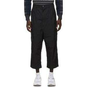 Comme des Garcons Homme Black Cotton Duck Trousers
