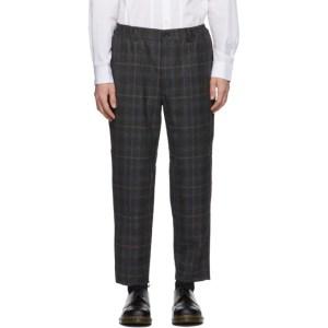 Comme des Garcons Homme Deux Grey Wool Glen Check Trousers