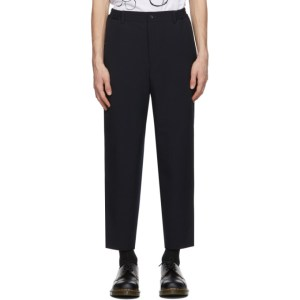 Comme des Garcons Homme Deux Navy Oxford Yarn Trousers