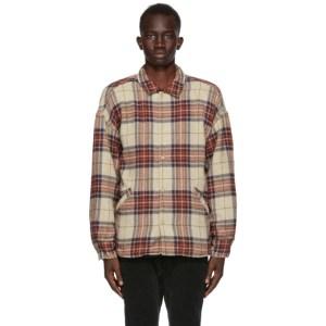 Remi Relief Beige Jazz Nep Wide Shirt