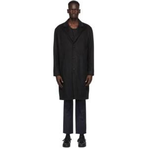Nudie Jeans Black Wool Ruben Coat
