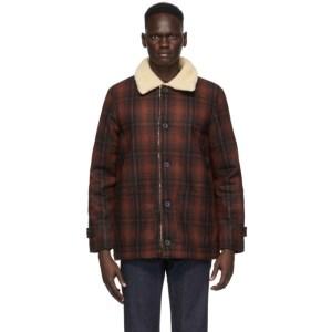 Nudie Jeans Red Mangan Lumber Jacket