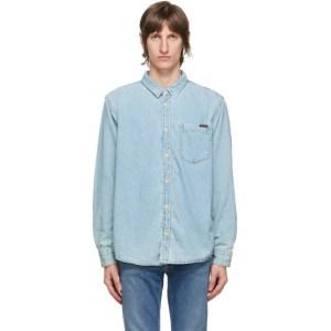 Nudie Jeans Blue Denim Albert Short Sleeve Shirt