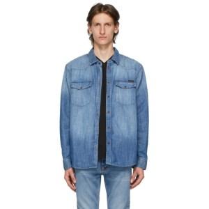 Nudie Jeans Blue Denim George Shirt
