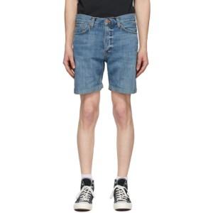 Nudie Jeans Blue Denim Josh Shorts