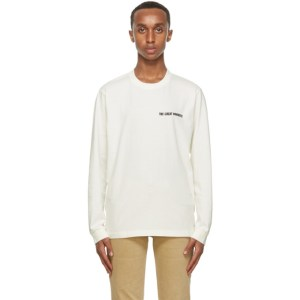 Nudie Jeans Off-White Someplace Collage Rudi Long Sleeve T-Shirt